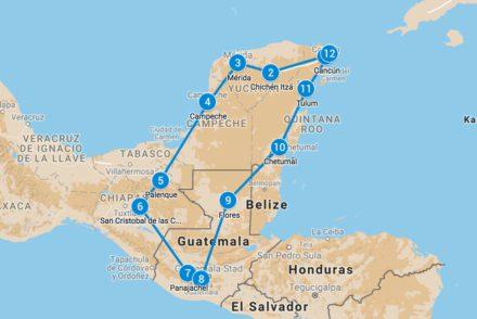 Backpackroute 5 weken Mexico Guatemala
